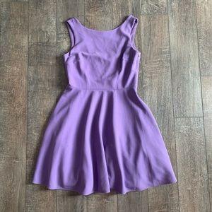 Betsy Johnson Empire A-Line V-Back Mini Dress